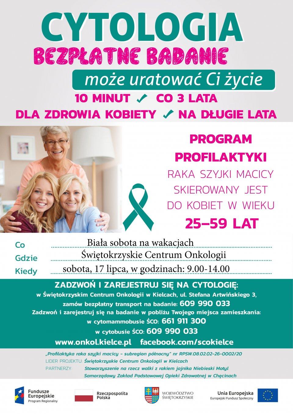 17 lipca w ŚCO - Biała sobota – zadbaj o zdrowie na wakacjach